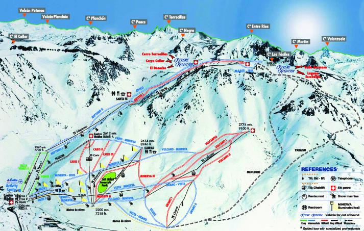 Jenn Berg skiing in Las Lenas Argentina